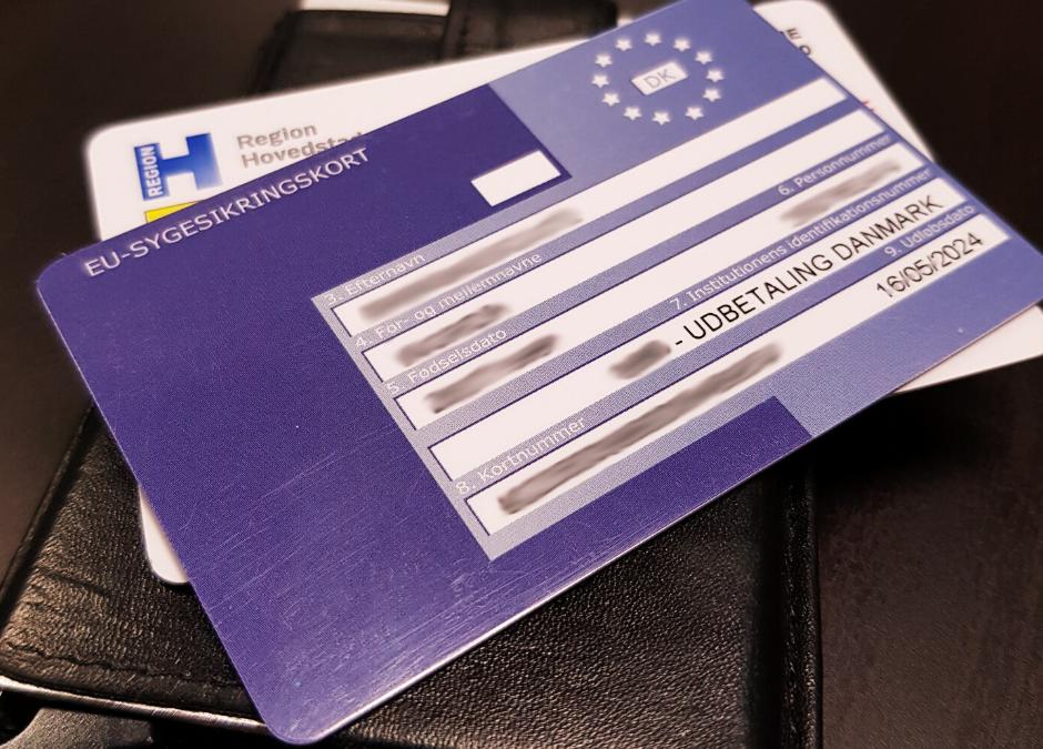 Mėlyna EU draudimo kortelė